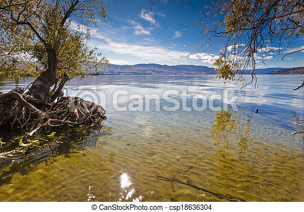 bergsee, sommer - csp18636304