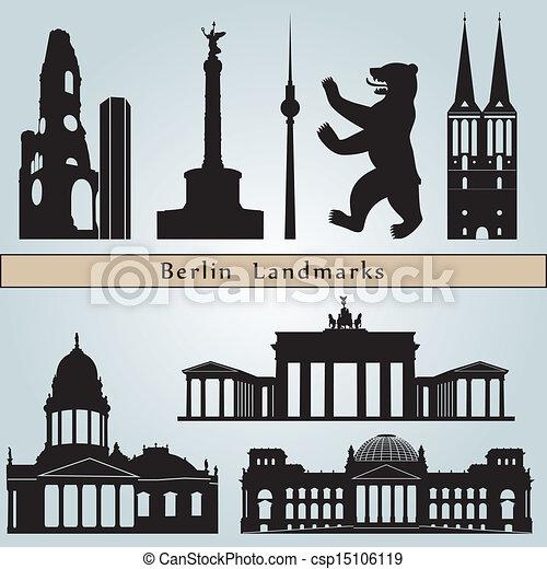 Marcas y monumentos de Berlín - csp15106119