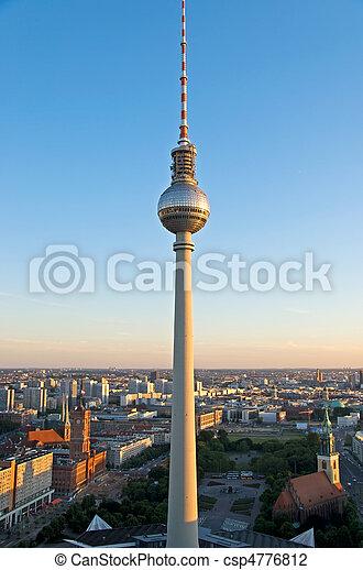 berlin aerial image - csp4776812