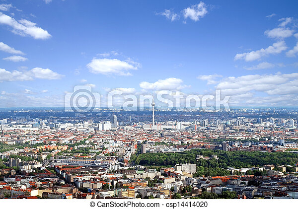 Berlin - aerial view - csp14414020