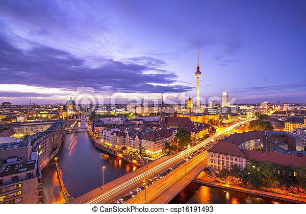 Berlin Cityscape - csp16191493