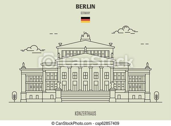 berlin, germany., repère, icône, konzerthaus - csp62857409