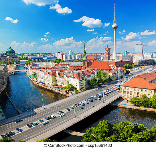 Berlin, Germany view on major landmarks - csp15661483