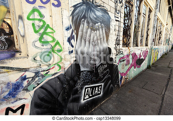 Berlin Grafitti Alias - csp13348099
