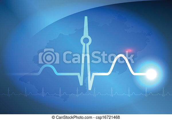 Heartbeat Line Art : Berlin heartbeat an abstract vector illustration of clip
