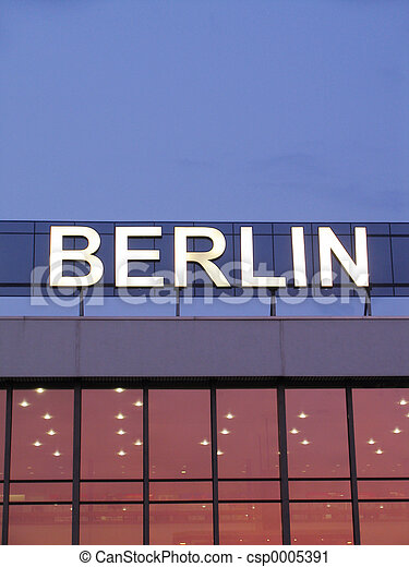 Berlin sign - csp0005391