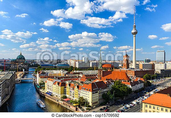 Berlin skyline panorama - csp15709592