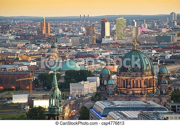 berlin skyline with potsdamer platz and dome - csp4776813