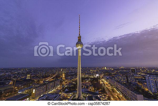 Berlin TV Tower - csp35874287