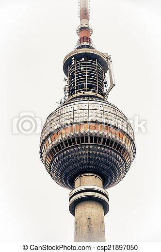Berlin TV tower  - csp21897050