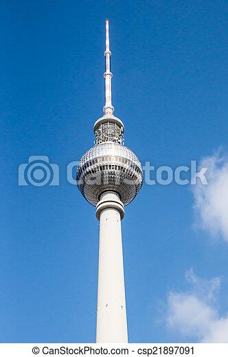 Berlin TV tower  - csp21897091