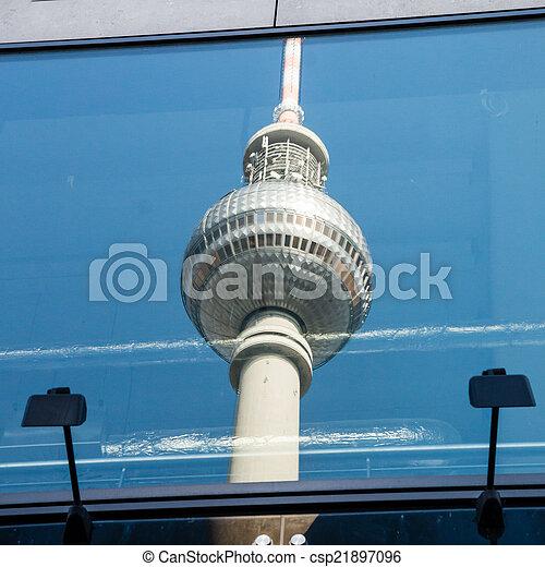 Berlin TV tower  - csp21897096