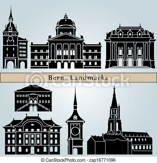 Bern landmarks and monuments - csp16771096