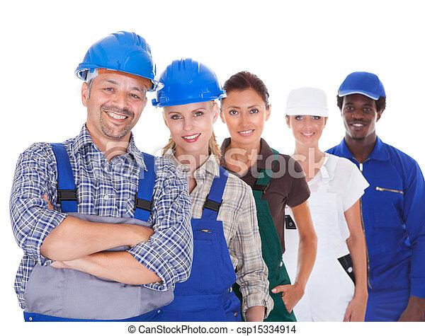 beroepen, anders, het vertegenwoordigen, mensen - csp15334914