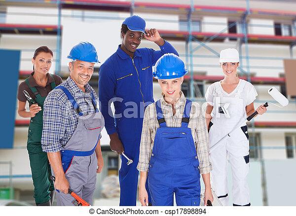 beroepen, anders, het vertegenwoordigen, mensen - csp17898894