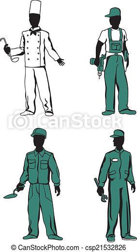 beroepen, anders, werkmannen  - csp21532826