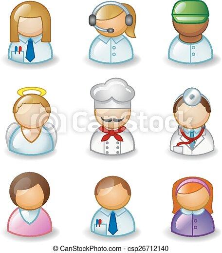 beroepen, avatars, anders - csp26712140