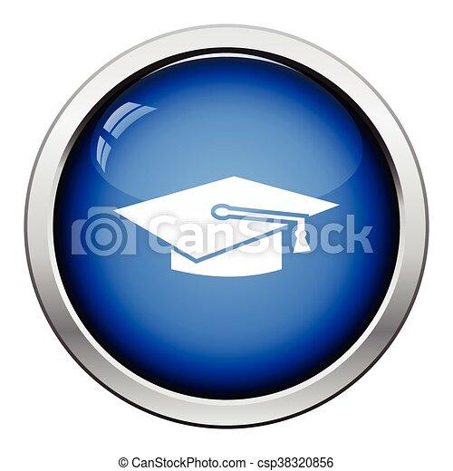 berretto, graduazione, icona - csp38320856