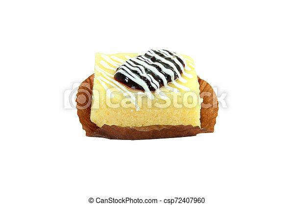 berry cake on white background - csp72407960