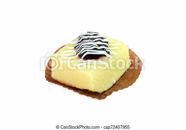 berry cake on white background - csp72407955