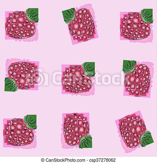 berry raspberry. - csp37278062