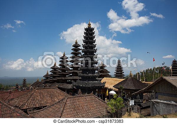 Besakih complex Pura Penataran Agung ,Hindu temple of Bali, Indonesia - csp31873383