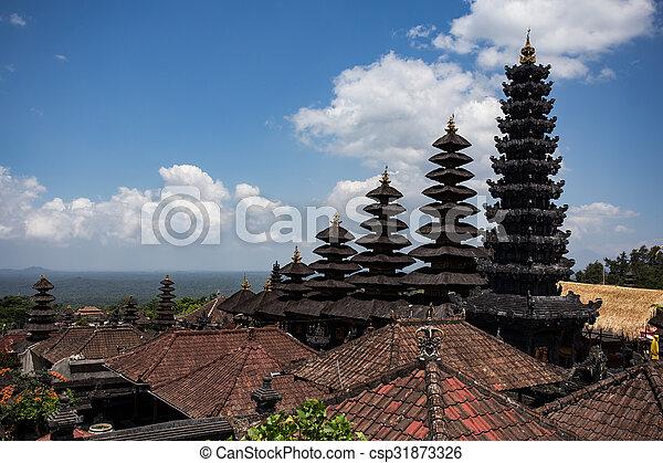 Besakih complex Pura Penataran Agung ,Hindu temple of Bali, Indonesia - csp31873326