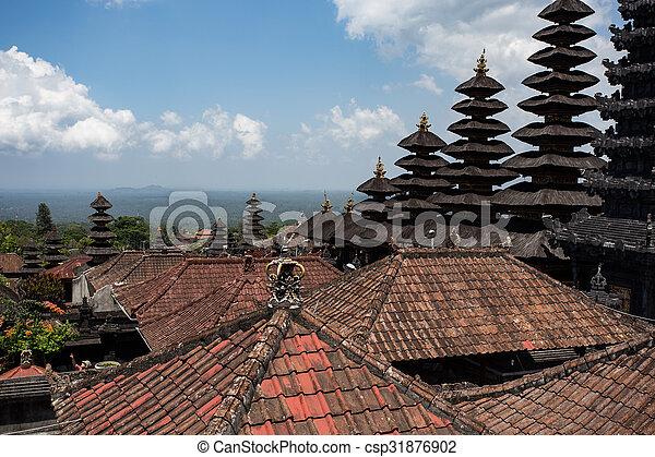 Besakih complex Pura Penataran Agung ,Hindu temple of Bali, Indonesia - csp31876902