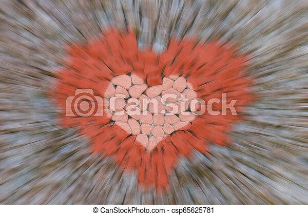 beschleunigung, stein, liebe- auszug, linien, schneller antrag, handwerk, design, hintergrund, verwischen, bild, symbol, rotes , nähern - csp65625781