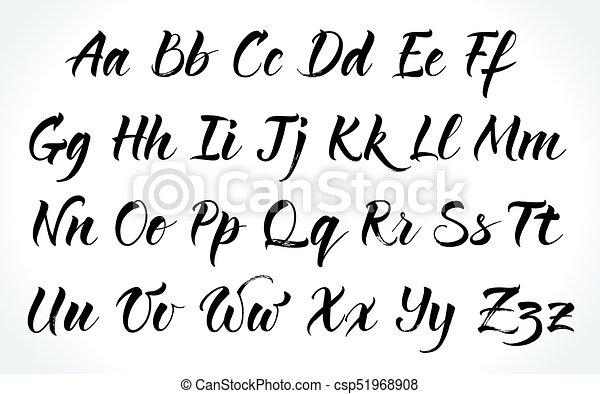 Beschriftung Brushpen Vektor Alphabet Beschriftung Alphabet