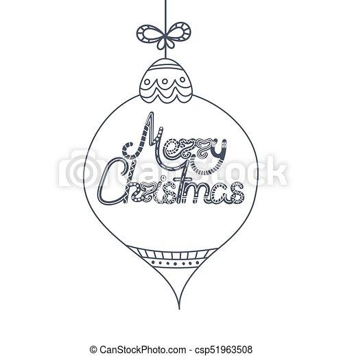 Beschriftung Dekor Doodle Weihnachten Elements Toy Text Year Kreativ Holiday Design Neu Gezeichnet Hand Weihnachten
