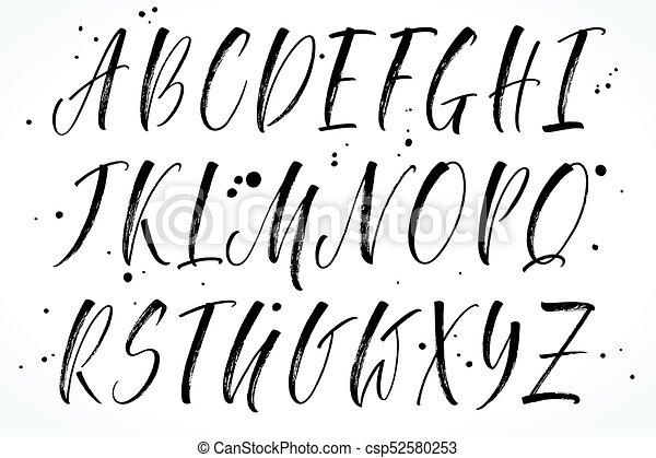 Beschriftung Vektor Alphabet Burste Alphabet Grossbuchstaben