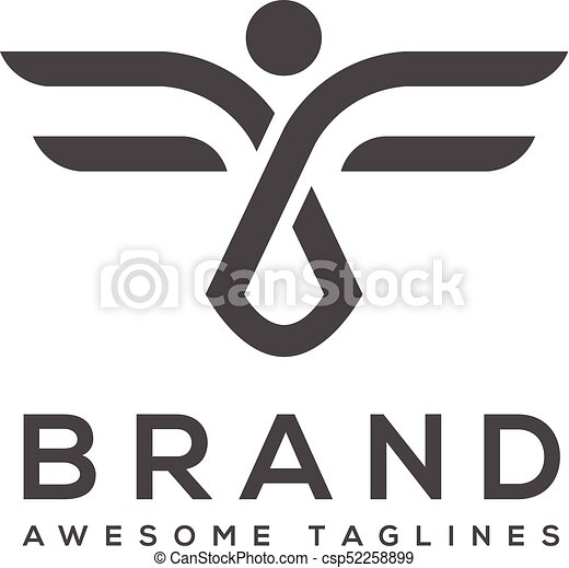 best abstract wings logo simple Vector - csp52258899