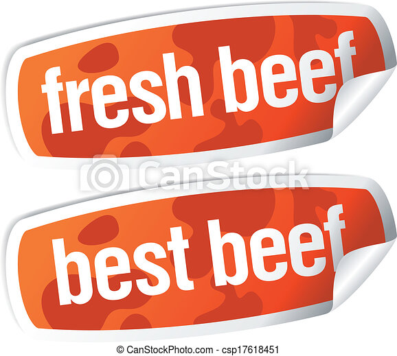 Best beef stickers - csp17618451