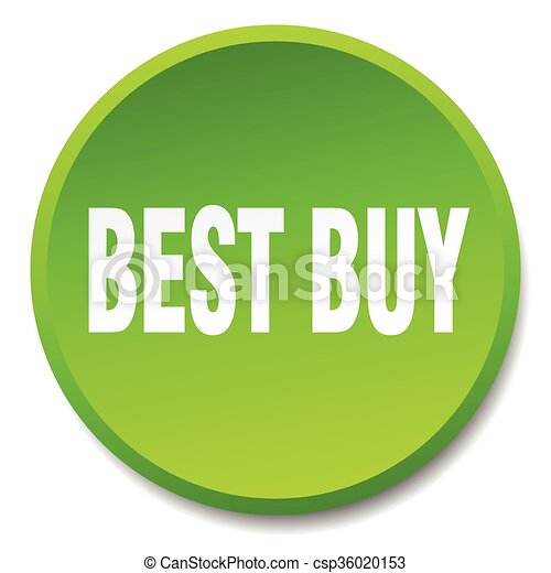 best buy green round flat isolated push button - csp36020153