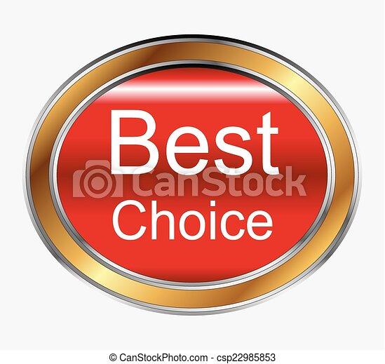 Best choice button - csp22985853