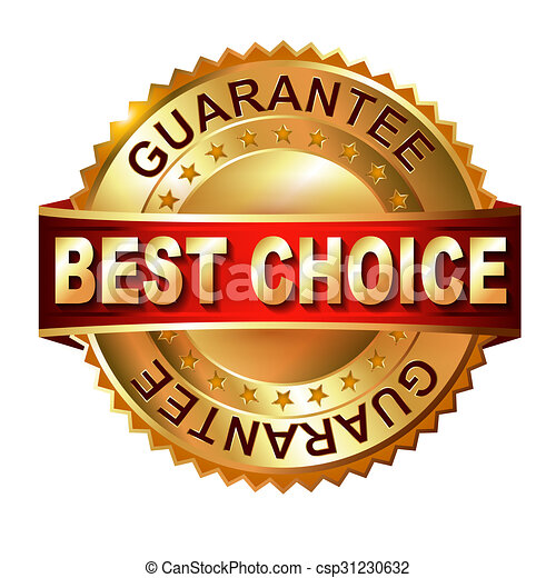 Best Choice golden label with ribbon. - csp31230632