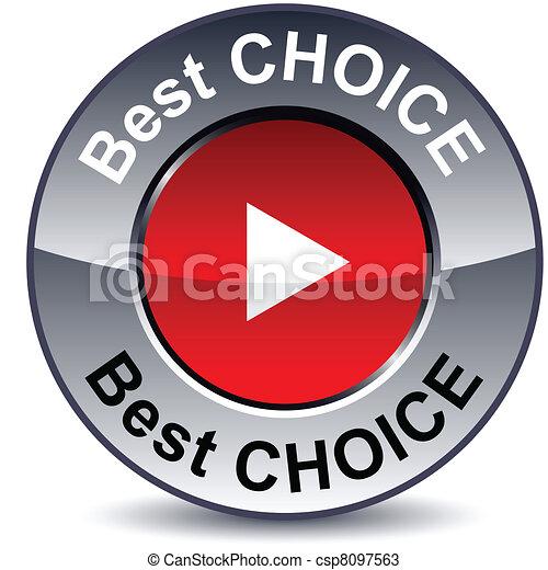 Best choice round button. - csp8097563
