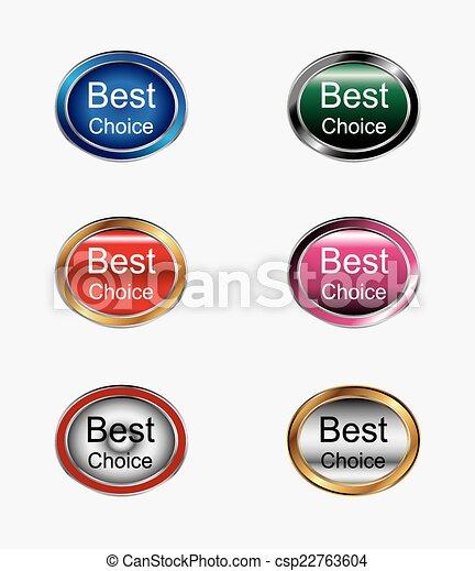 Best choice sign icon button - csp22763604