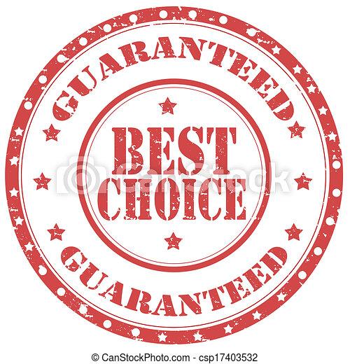 Best Choice-stamp - csp17403532