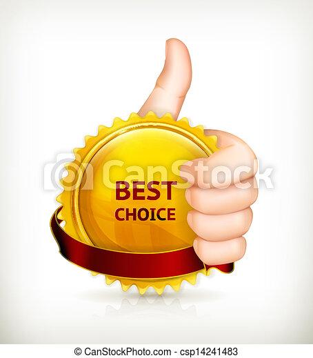 Best choice, vector - csp14241483