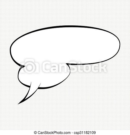Best comic speech bubble  - csp31182109