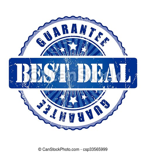 Best Deal  Guarantee Stamp.  - csp33565999