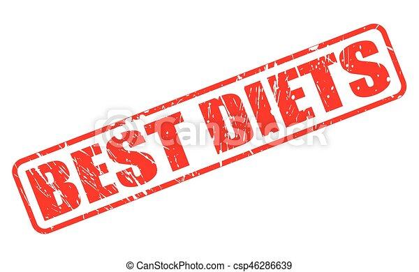 BEST DIETS red stamp text - csp46286639