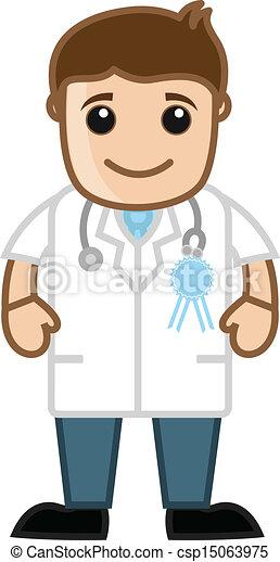 Best Doctor - Medical Cartoon - csp15063975