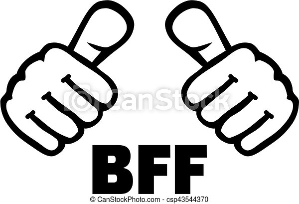 best friend forever with thumbs