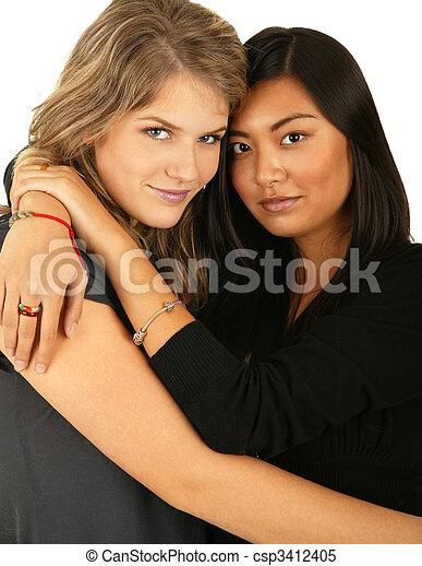 Best Friend Hugging 2 - csp3412405
