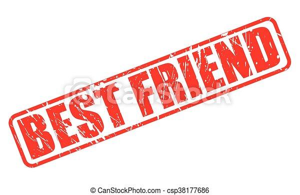 BEST FRIEND RED STAMP TEXT - csp38177686