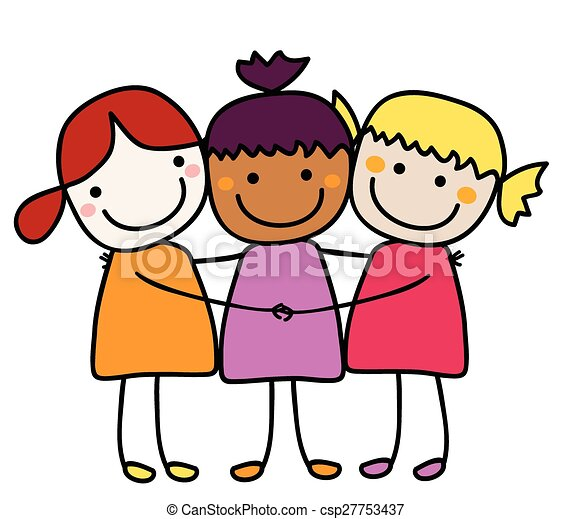 best friends vectors search clip art illustration drawings and rh canstockphoto com three best friends clipart best friends clipart png
