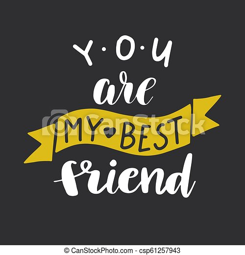 Best Friends Forever Postcard You Are My Best Friend Postcard Ink